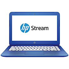 "Buy HP Stream 13-c100na Laptop, Intel Celeron, 2GB RAM, 32GB, 13.3"", Cobalt Blue Online at johnlewis.com"