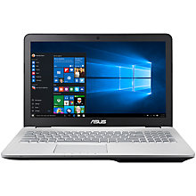 "Buy ASUS N551VW Laptop, Intel Core i7, 16GB RAM, 2TB + 128GB SSD,15.6"", Grey/Aluminum Online at johnlewis.com"