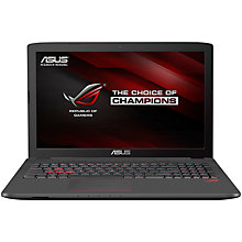 "Buy ASUS ROG GL752VW Laptop, Intel Core i7, 8GB RAM, 1TB HDD + 128GB SSD,17.3"" Online at johnlewis.com"