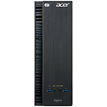 Buy Acer Aspire XC-705 Desktop PC, Intel Core i3, 8GB RAM, 2TB, Black Online at johnlewis.com