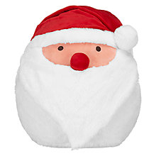 Buy John Lewis Man on the Moon Father Christmas Hand Warmer Cuddle Cushion, White/Red Online at johnlewis.com