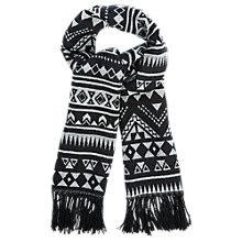 Buy Oasis Monochrome Aztec Scarf, Black/White Online at johnlewis.com