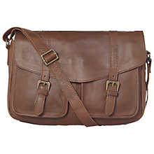 Buy Fat Face Oiled Satchel Bag, Chocolate Online at johnlewis.com