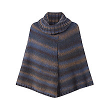 Buy Jigsaw Ombre Roll Neck Poncho, Navy Online at johnlewis.com