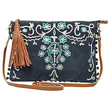 Buy White Stuff Lou Lou Pochette Across Body Bag, Navy Online at johnlewis.com