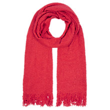 Buy Oasis Boucle Fringed Scarf, Mid Red Online at johnlewis.com
