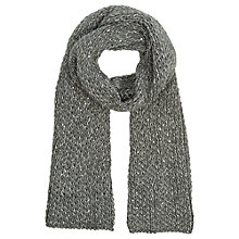 Buy Oasis Sequin Knitted Scarf, Dark Grey Online at johnlewis.com