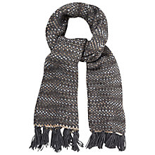 Buy White Stuff Mixed Stitch Scarf, Grey Online at johnlewis.com