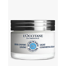 Buy L'Occitane Light Shea Comforting Cream, 50ml Online at johnlewis.com