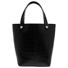 Buy Mulberry Kite Embossed Tote Bag, Black Croc Online at johnlewis.com