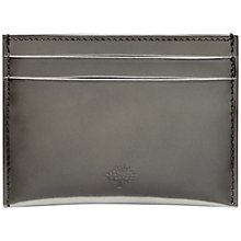 Buy Mulberry Mirror Metallic Leather Slip Card Holder Online at johnlewis.com