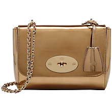 Buy Mulberry Lily Mirror Metallic Leather Bag Online at johnlewis.com