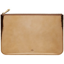 Buy Mulberry Mirror Metallic Leather Pouch Online at johnlewis.com