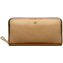 Buy Mulberry Mirror Metallic Leather Zip Around Purse Online at johnlewis.com