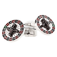 Buy Duchamp Roulette Cufflinks, Red/Black Online at johnlewis.com