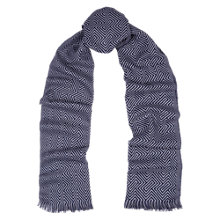Buy Duchamp Merino Box Scarf, Grey Online at johnlewis.com