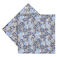 Buy Duchamp Luminus Floral Silk Pocket Square, Blue Online at johnlewis.com
