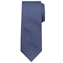 Buy Chester by Chester Barrie Mini Cross Silk Tie, Navy/Silver Online at johnlewis.com