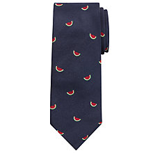 Buy John Lewis Made in Italy Watermelon Silk Tie, Navy Online at johnlewis.com