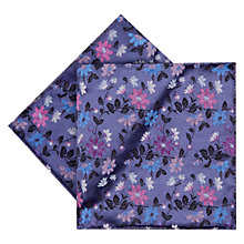 Buy Duchamp Sophisma Floral Print Silk Pocket Square, Purple Online at johnlewis.com