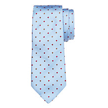 Buy John Lewis Made in Italy Textured Dot Silk Tie, Blue Online at johnlewis.com