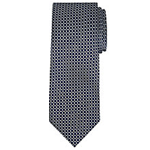 Buy John Lewis Made in Italy Woven Grid Silk Tie, Navy Online at johnlewis.com