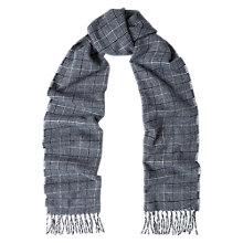 Buy Duchamp Cross Wool Scarf, Blue Online at johnlewis.com