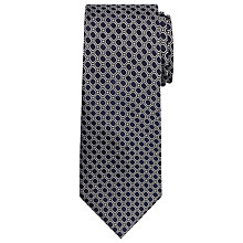 Buy Chester by Chester Barrie Tile Design Silk Tie, Navy/Silver Online at johnlewis.com