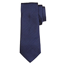 Buy John Lewis Made in Italy Jacquard Diamond Dot Silk Tie, Navy Online at johnlewis.com