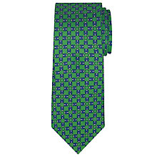 Buy John Lewis Made in Italy Coccinel Silk Tie, Green/Navy Online at johnlewis.com