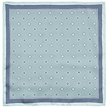 Buy John Lewis Diamond Dot Silk Pocket Square, Navy/Mint Online at johnlewis.com
