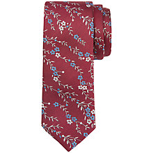 Buy Ted Baker Canary Floral Silk Tie, Deep Pink Online at johnlewis.com