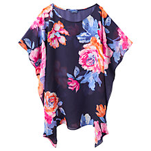 Buy Joules Rosanna Floral Kaftan, Navy Online at johnlewis.com