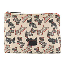 Buy Radley Fleet Street Medium Zip Pouch, Ivory Online at johnlewis.com
