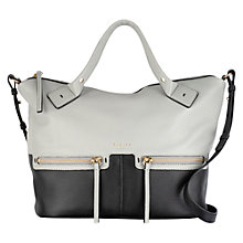 Buy Radley Great Eastern Street Medium Leather Multiway Bag, Black/White Online at johnlewis.com
