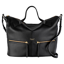 Buy Radley Great Eastern Street Large Leather Multiway Bag, Black Online at johnlewis.com