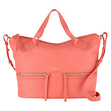 Buy Radley Great Eastern Street Medium Leather Grab Bag, Coral Online at johnlewis.com