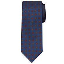Buy Peckham Rye Made in England Mini Geo Print Silk Tie, Blue Online at johnlewis.com