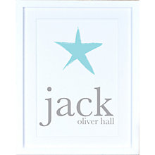 Buy Megan Claire - Personalised Child's Name with Star Framed Print Online at johnlewis.com
