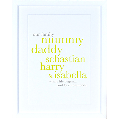 Megan Claire – Personalised Where Life Begins Definition Framed Print, 35.5 x 27.5cm