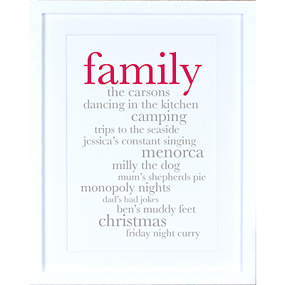 Megan Claire – Personlised Family Definition Framed Print, 35.5 x 27.5cm