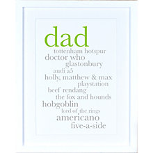 Buy Megan Claire Personalised Dad Definition Framed Print, 35.5 x 27.5cm Online at johnlewis.com