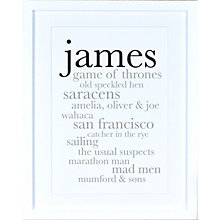 Buy Megan Claire - Personalised For Him Definition Framed Print, 35.5 x 27.5cm Online at johnlewis.com