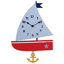 Buy Roger Lascelles Children's Boat Pendulum Clock Online at johnlewis.com