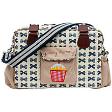 Buy Pink Lining Yummy Mummy Bows Changing Bag, Cream/Navy Online at johnlewis.com