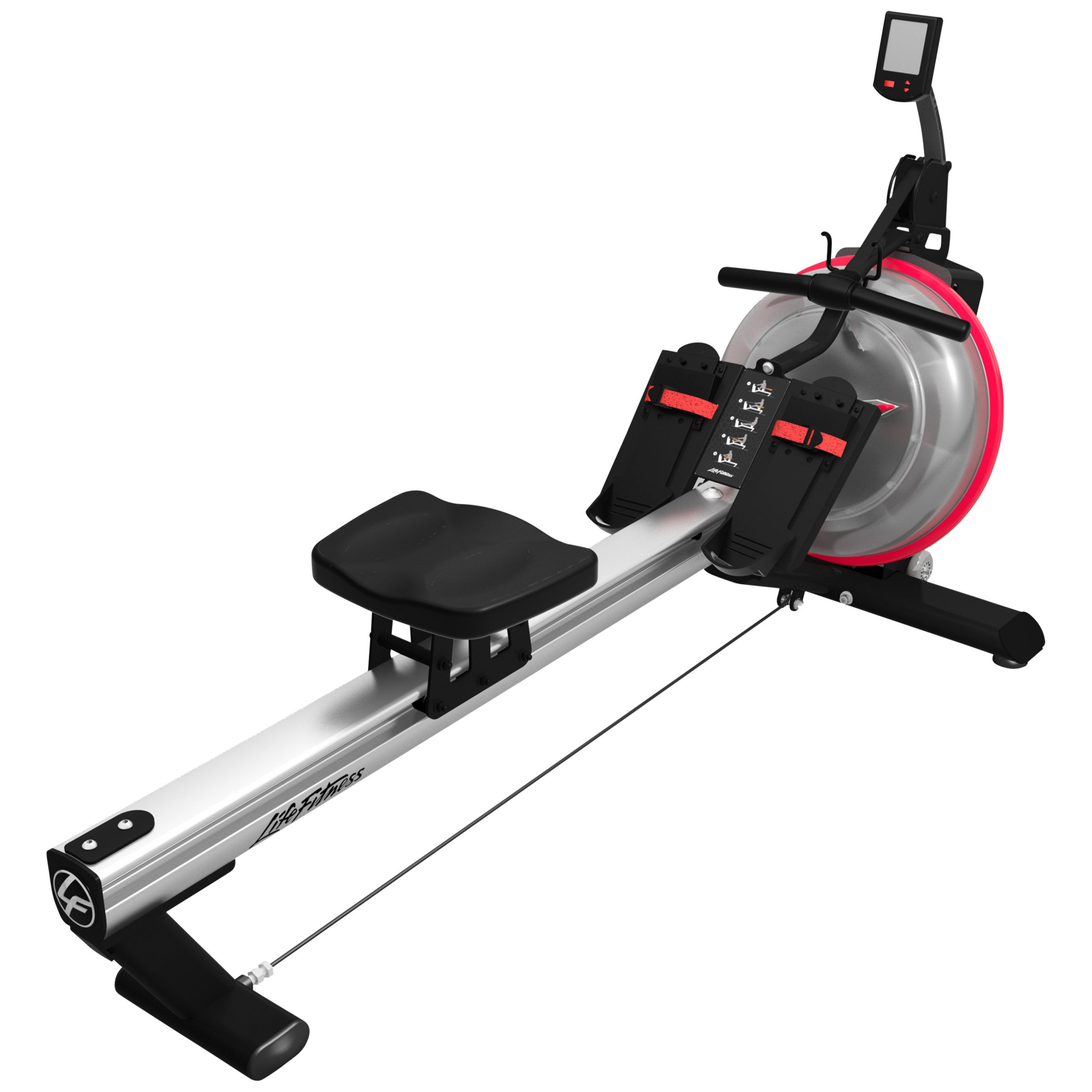 Life Fitness Life Fitness Row GX Trainer, Silver/Black/Red