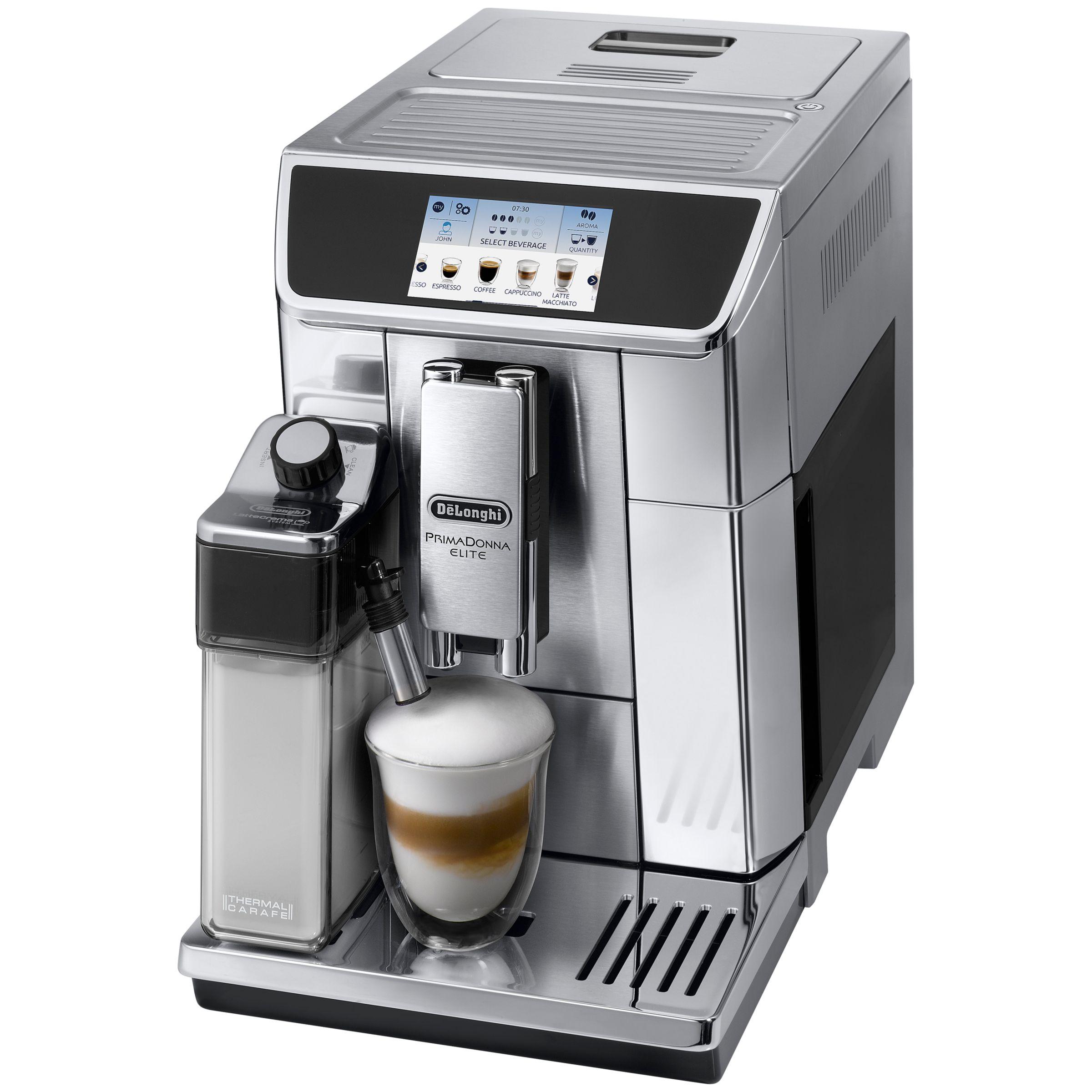 Electronic Prima Donna Delonghi Coffee Machine buy delonghi ecam650 75 primadonna elite bean to cup coffee machine