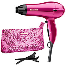 Buy BaByliss 5248AGU Shimmer Collection Hair Dryer, Pink Online at johnlewis.com