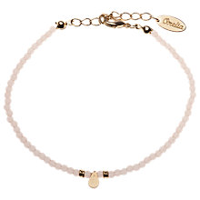 Buy Orelia Mini Bead Teardrop Bracelet, Nude Online at johnlewis.com