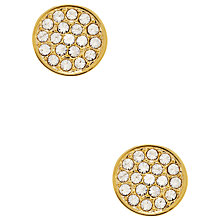 Buy kate spade new york Glass Stone Pave Disc Stud Earrings Online at johnlewis.com